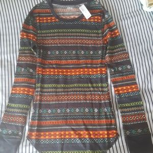 Old Navy Waffle Knit Thermal Long Sleeved Tee